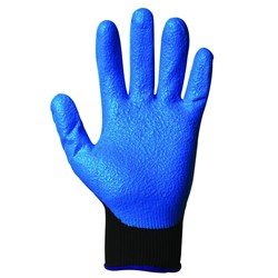 GLOVE G40 FOAM NITRILE LGE BLUE WET & DRY GRIP 12/PKT (5)