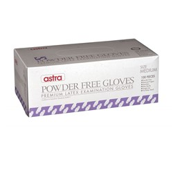 GLOVE LATEX CLR MED POWDER FREE 100/PKT (10)