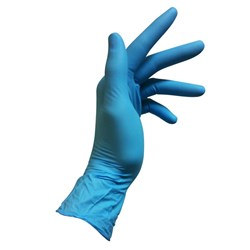 GLOVE BLUE NITRILE MED POWDER FREE 100/PKT (10)