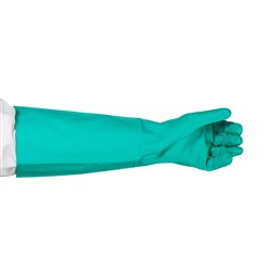 GLOVE NITRILE GREEN LGE 460MM UNLINED (72)