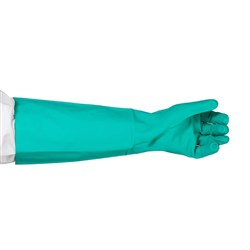 GLOVE NITRILE GREEN XL 460MM UNLINED (72)