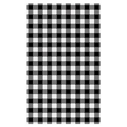DELI WRAP G/PROOF GINGHAM BLK 190 X 310MM 200SHT/PKT (10)