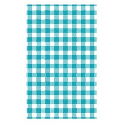 DELI WRAP G/PROOF GINGHAM TEAL 190X310MM 200SHT/PKT (10)