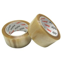 PACKAGING TAPE CLR RUBBER ADH 48MM X 75MT (36)