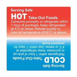 LABEL HOT / COLD SERVING SAFE 75MM 500/ROLL