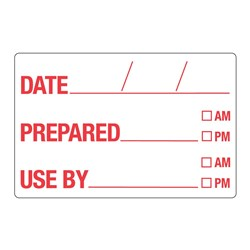 DATE / PREPARED / USE BY LABEL 250/ROLL 49X75MM DISSOLVABLE