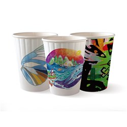 BIOCUP DOUBLE WALL 90MM ART 12OZ 355ML 40/PKT (25)