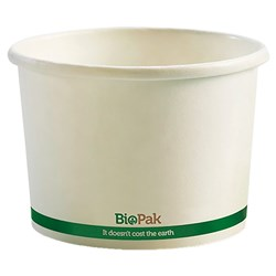 BIOBOWL PAPER 8OZ 240ML WHT 90X63MM 50/PKT (20)