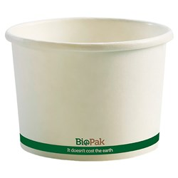 BIOBOWL PAPER 16OZ 473ML WHT 115X78MM 25/PKT (20)