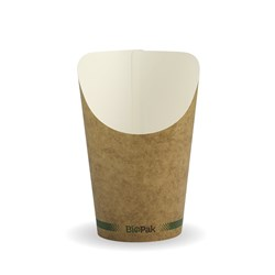 BIOCUP CHIP CUP BROWN 12OZ 355ML 50/PKT (20)