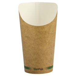 BIOCUP CHIP CUP BROWN 16OZ 473ML 50/PKT(20)
