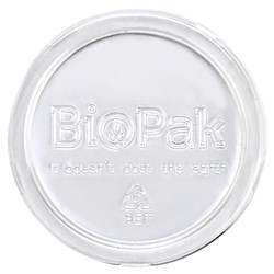 SAUCE LID PET CLR SUIT BIOCUP 60ML 70MM 50/PKT (20)