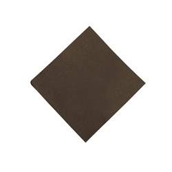 SOFT TOUCH DINNER NAPKIN CHOC AIRLAID 40X40CM 50/PKT (16)
