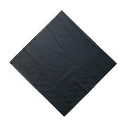 2PLY DINNER NAPKIN BLK 100/PKT (10)