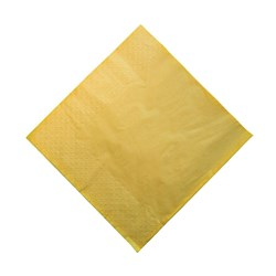 2PLY DINNER NAPKIN GOLD YELLOW 100/PKT (10)