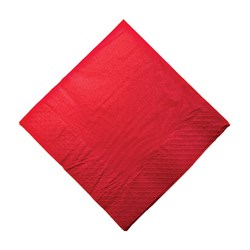 2PLY DINNER NAPKIN RED 100/PKT (10)
