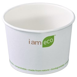 ECO BOWL 240ML WHT I AM ECO 1000/CTN 8OZ