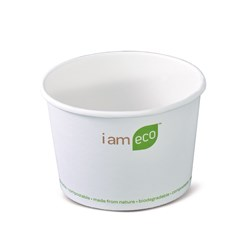 ECO BOWL 480ML WHT I AM ECO 500/CTN 16OZ
