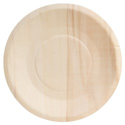 BIO ROUND PLATE 150MM WIDE RIM 10/PKT BIO WOOD