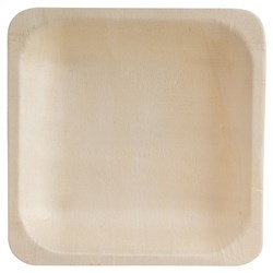 BIO SQUARE BOWL 140X140MM 10/PKT (10) BIO WOOD