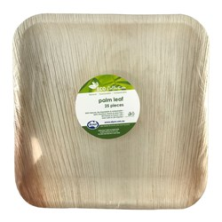 PALM LEAF SQ PLATE 250X250MM 25/PKT (4)