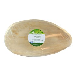 PALM LEAF OVAL PLATE 300X240MM 25/PKT (4)