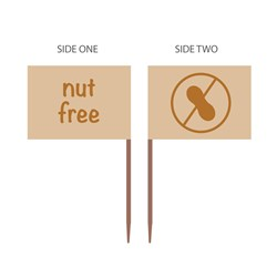 FOOD MARKER FLAG NUT FREE 500/PKT (20)