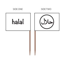 FOOD MARKER FLAG HALAL 500/PKT (20)