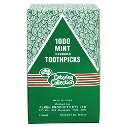 TOOTHPICK MINT CELLO WRAPPED 1000/PKT