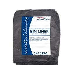 GARBAGE BAG 82LT BLK HDPE 950X810MM BUDGET 500/CTN