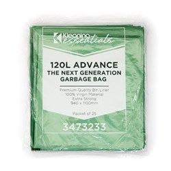 GARBAGE BAG 120LT GREEN MDPE 940X1100MM 200/CTN NEXT GEN