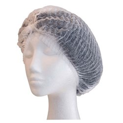 BOUFFANT CAP CRIMPED WHT 530MM 100/PKT (10)