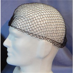 HAIR NET CLOSE MESH BLK/BROWN 50/PKT