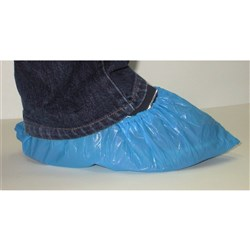SHOE COVER PLASTIC BLUE 1000/CTN