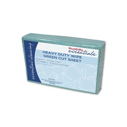WIPES HEAVY DUTY GREEN 60 X 600MM 20/PKT (5)