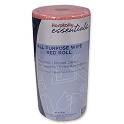 WIPES ALL PURPOSE RED ROLL 30CM X 50CM X 85PCE/ROLL (6)
