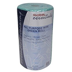 WIPES ALL PURPOSE GREEN ROLL 30CM X 50CM X 85PCE/ROLL (6)