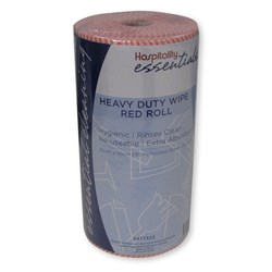 WIPES HEAVY DUTY RED ROLL 30CM X 50CM X 85PCE/ROLL (6)