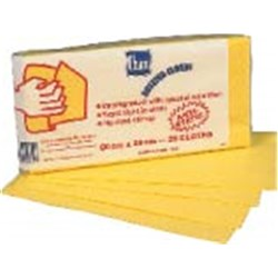 DUSTING CLOTH WIPES 600X300MM YELLOW 25/PKT (5)