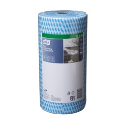 TORK CLEANING CLOTH BLUE ROLL LONG LAST 50X30CM 90SHT 4/CTN