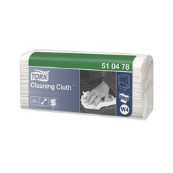 TORK CLEANNG CLOTH WHT FOLDED 42X38CM 5PKTX130SH/CTN
