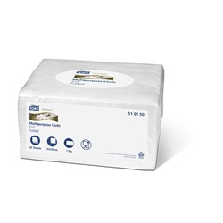 TORK CLEANING CLOTH WHT FOLDED 55/PKTX8/CTN  SML PACK