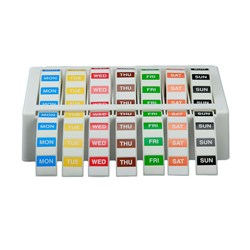 LABEL KIT 24MM SQUARE MON-SUN INC ABS DISPENSER