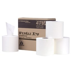 WYPALL CENTERFEED WIPER WHITE ROLL 22.5 x 38CM 220SHT 4/CTN
