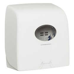 HAND TOWEL DISPENSER SLIMROLL WHITE ABS PLASTIC LOCKABLE
