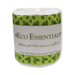 SOFT CLEAN 2PLY 250SHEET TOILET ROLL 48/CTN ESSENTIALS
