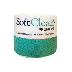 SOFT CLEAN 2PLY 250SHEET TOILET ROLL 48/CTN PREMIUM