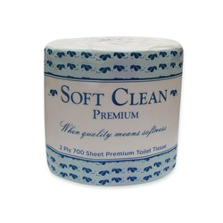 SOFT CLEAN 2PLY 700 SHEET TOILET ROLL 48/CTN PREMIUM
