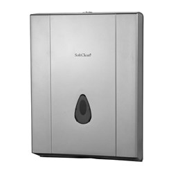 SLIMFOLD HAND TOWEL DISPENSER METALLIC GREY PLASTIC (16)