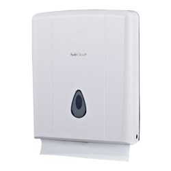 ULTRAFOLD HAND TOWEL DISPENSER WHT PLASTIC (20)
